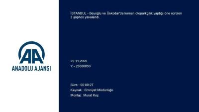 akalan - İSTANBUL - Beyoğlu ve Üsküdar'da korsan otoparkçılık yaptığı iddia edilen şüpheliler yakalandı