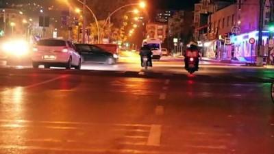 polis ekipleri - SAMSUN - Sokağa çıkma kısıtlamasına uyuluyor