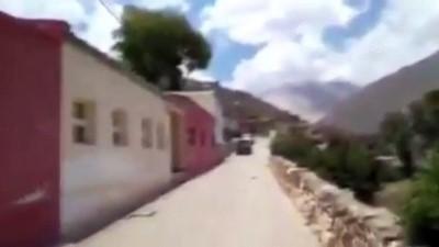 BUENOS AIRES - Arjantin'de 5,8 büyüklüğündeki depremin ardından dağlık bölgede toprak kayması oldu