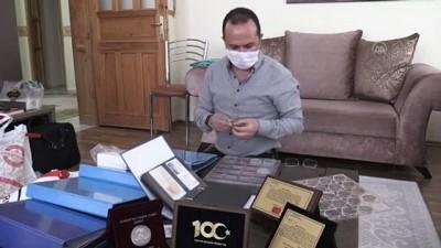 karne hediyesi - KAYSERİ - Terzi babasının koleksiyonu 'hazinesi' oldu