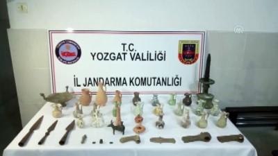 YOZGAT - Tarihi eser operasyonu: 3 gözaltı