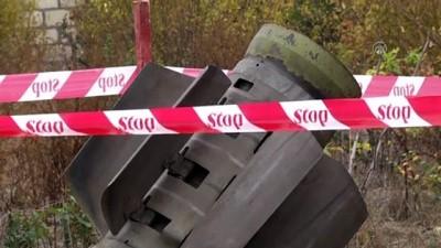 misket bombasi - Azerbaycan'ın Terter kentine atılan patlamamış Smerch füzesi etkisiz hale getirildi - TERTER