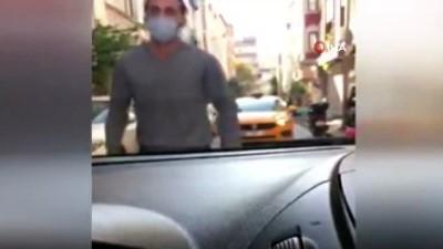 saglik calisani -  Fatih'te filyasyon ekibini bıçakla tehdit eden taksici kamerada