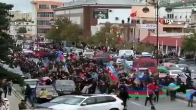 bayram havasi -  - Bakü ve Gence'de coşkulu 'Şuşa' kutlaması