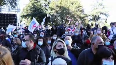 Gürcistan'da binlerce kişi erken seçim talebiyle sokaklarda - TİFLİS