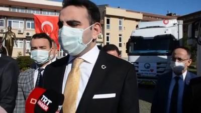 Sinop'tan İzmir'e 2 tır dolusu yardım