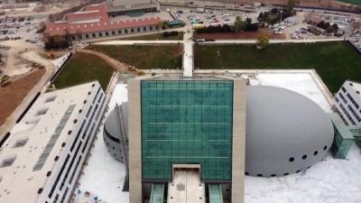 ANKARA - (DRONE) 194 senelik Cumhurbaşkanlığı Senfoni Orkestrasının yeni binasına tarihi açılış