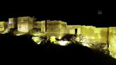Bayburt Kalesi ışıklandırıldı - Drone