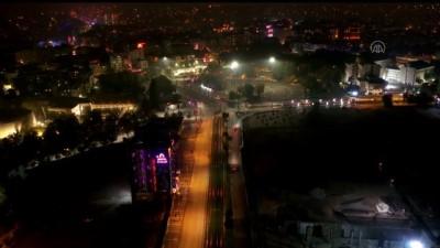 GAZİANTEP - (DRONE) Sokağa çıkma kısıtlamasına uyuluyor