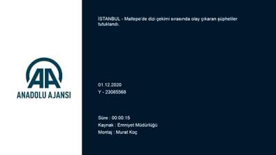 İSTANBUL - Maltepe'de bir dizi setinde olay çıkaran şahıslar tutuklandı