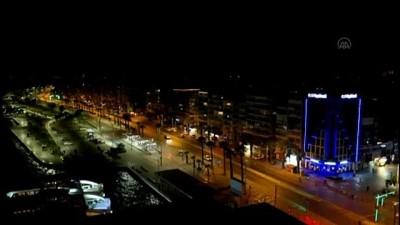 İZMİR - Drone  - Sokağa çıkma kısıtlaması
