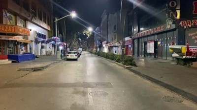 KIRŞEHİR - Sokağa çıkma kısıtlaması