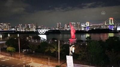 Tokyo Körfezi'ne olimpiyat halkalarından yüzer anıt yerleştirildi (2)