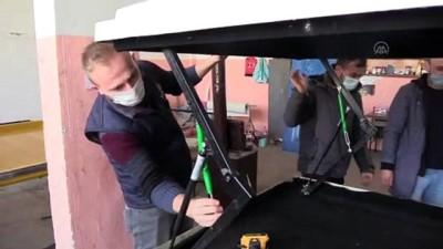 ZONGULDAK - Kalıp ustalarının ürettiği araç üstü kamp çadırları ilgi görüyor