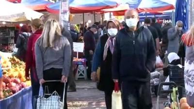 solunum cihazi -  Vaka artışının devam ettiği Antalya'da pazar yoğunluğu