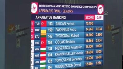 MERSİN - Avrupa Erkekler Artistik Cimnastik Şampiyonası sona erdi (1)