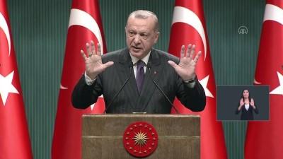ANKARA - Cumhurbaşkanı Erdoğan: 'İş yeri kira olan esnafımıza üç ay süreyle büyükşehirlerde aylık 750 lira, diğer illerde ise 500 lira kira desteği yapacağız'