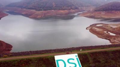 YALOVA - (Drone) İçme suyu ihtiyacının karşılandığı barajda su seviyesi azaldı