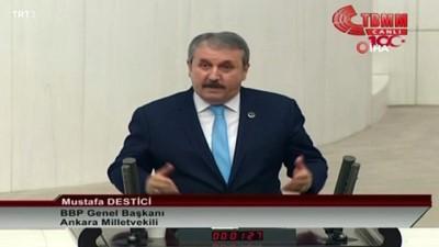 """cumhuriyet -  BBP Genel Başkanı Mustafa Destici: """"Büyük Birlik Partisi 27 yıldır şanıyla, şerefiyle, onuruyla hazineden bir kuruş almadan devlete, vatana, millete hizmet için siyasetini sürdürmektedir'"""