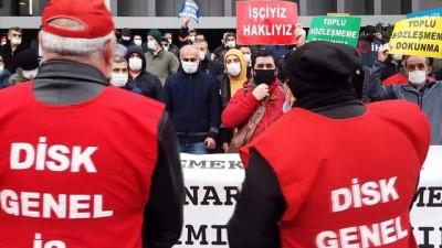 Şişli Belediyesi çalışanları belediyeyi protesto etti