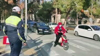 Trafik ekipleri drone'la denetim yaptı