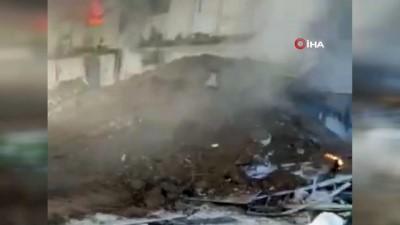 Burdur'da işçilerin kaldığı konteynırda yangın çıktı