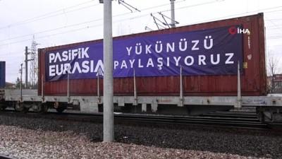 yuk treni -  Çin'e gidecek 42 vagon, 42 konteynerlik ihracat treni Kocaeli'ye uğradı