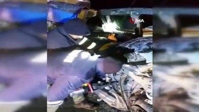 arac plakasi -  Ağrı'da Trafik Kazası: 1 ölü, 1 yaralı