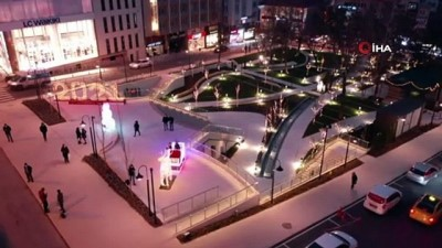 Atatürk Parkı ışıl ışıl oldu