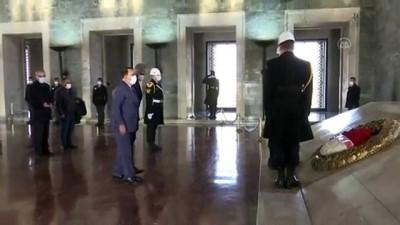 ANKARA - Türkiye Sakatlar Konfederasyonu üyeleri, Anıtkabir'i ziyaret etti
