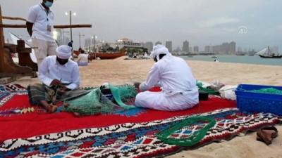DOHA - Katar'da Geleneksel Ahşap Tekne Festivali, katılımcıları geçmiş zamanda yolculuğa çıkarıyor