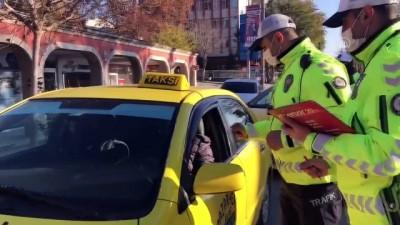 EDİRNE - Yolcu taşımacılığı yapan sürücülere '65 yaş üstü ve 20 yaş altı' uyarısı