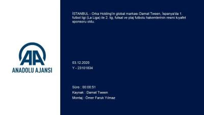 İSTANBUL - Damat Tween, İspanya'da futbol hakemlerinin kıyafet sponsoru oldu