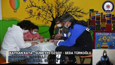 KARABÜK - Polis ekipleri hazırladıkları videoyla engelli bireylerin 'sesi' oldu