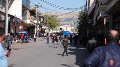 SÜLEYMANİYE - Güvenlik güçleri göstericilere müdahale etti