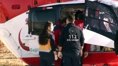 ambulans helikopter -  - Ambulans helikopterlerin 21 günlük bebeği hayatta tutma yarışı