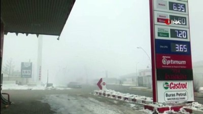 Yoğun sis Ağrı'yı etkisi altına aldı