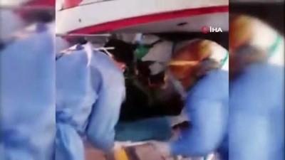 ambulans helikopter -  Kalp krizi geçiren kadının imdadına helikopter yetişti
