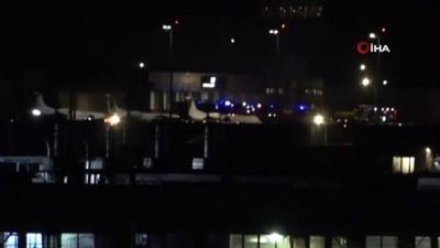 basin aciklamasi -  Sabiha Gökçen Havalimanı'nda askeri helikopter aydınlatma direğine çarptı