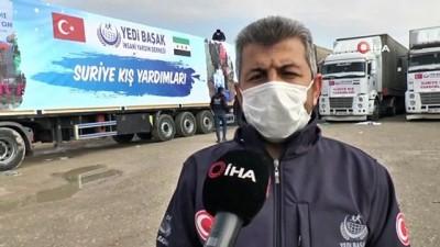 komur yardimi -  Yedi Başak'tan Suriyeli mağdurlara 8 tırdan oluşan 200 ton kömür yardımı