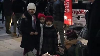 Nevşehir'de mülteciler terminale akın etti