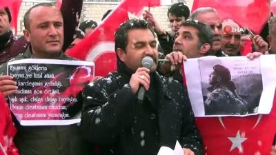 sinir guvenligi -  İdlib şehitleri için gıyabi cenaze namazı kılındı