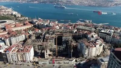 sinema salonu -  Taksim AKM'de son durum havadan görüntülendi