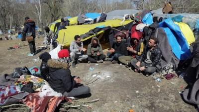 Yunanistan sınırında bekleyen sığınmacılar liderler zirvesini bekliyor - EDİRNE