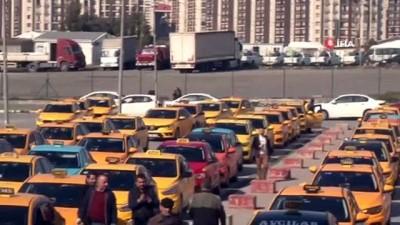 Ticari taksi sürücülerinden plaka sahiplerine eylem