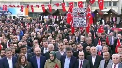 Kocaelililer İdlib şehitleri için yürüdü