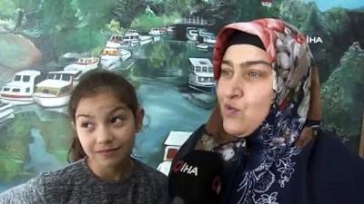 Beykoz'da 11 yıl sonra ilk kez net duyan Havva'nın mutluluğu