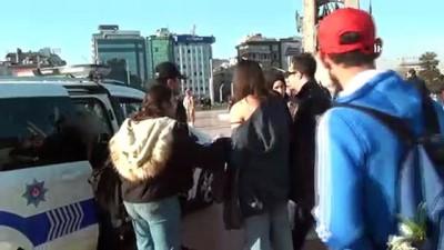Taksim'de taciz iddiasına gözaltı
