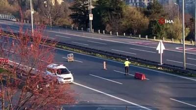 Sokağa çıkma kısıtlamasıyla İstanbul'da yollar boş kaldı