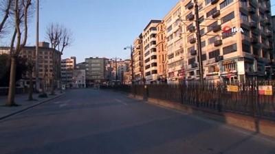 Sokağa çıkma kısıtlamasının sabahında gündoğumunda kartpostallık görüntüler